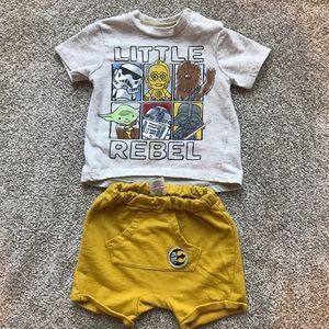 Star Wars shorts set 6-9 months